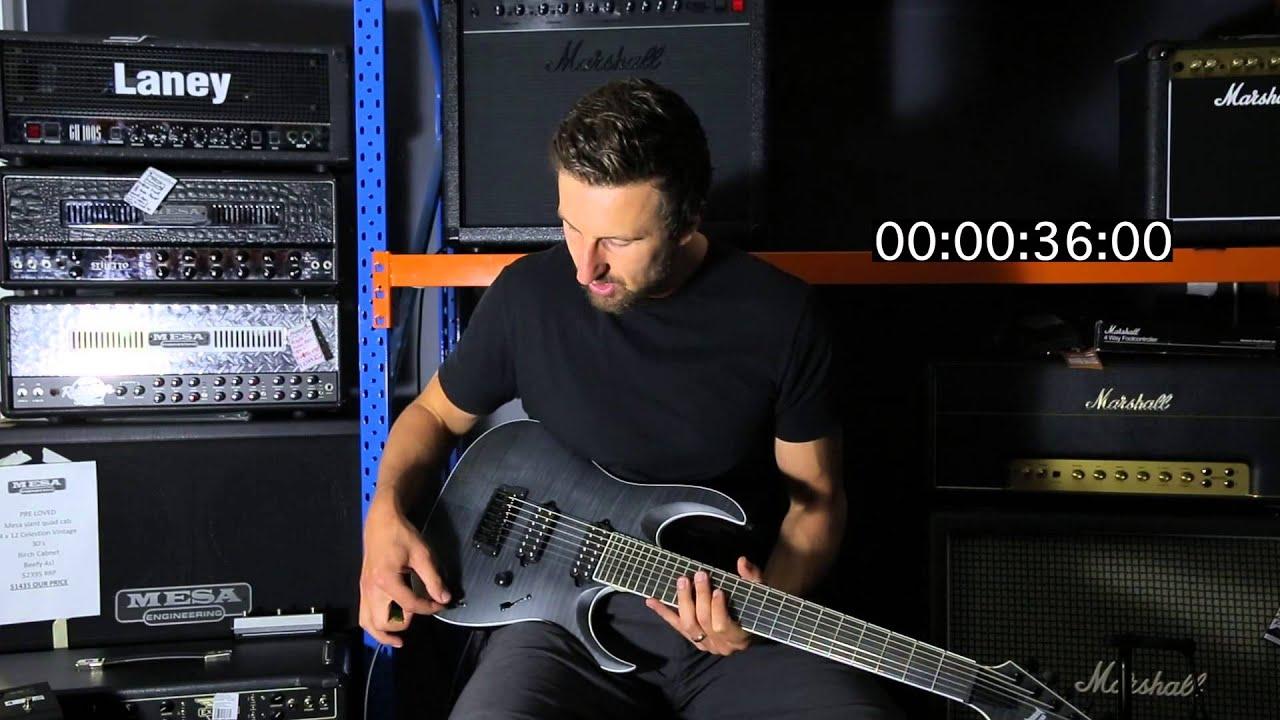 ibanez rgaix7fm 60 second review youtube