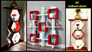 ❣️DIY CARDBOARD CABINETS WITH LIGHTS❣️ | ART  AND CRAFT | Diy crafts | Fashion pixies