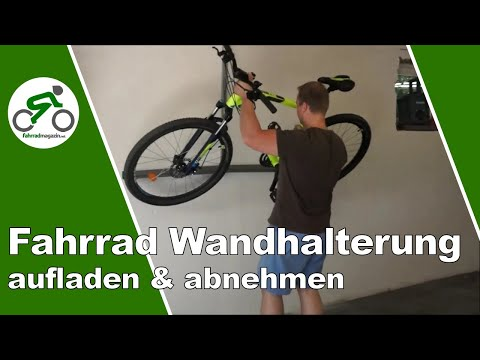 fahrrad wandhalter fahrr der platzsparend verstauen youtube. Black Bedroom Furniture Sets. Home Design Ideas
