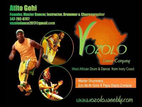 Vozolo Dance Company - Four Seasons Hotel Event: Ivory Coast African Dance Katana & Drummers Solo