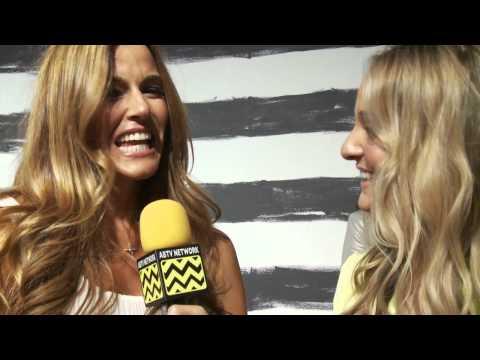 AfterBuzz TV Interviews Kelly Bensimon @ Alice + Olivia Spring 2013