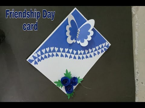 Beautiful handmade friendshipday card idea| easy handmade friendshipday card idea|