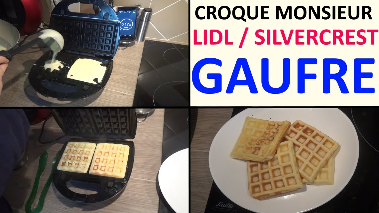 appareil croque monsieur lidl silvercrest test recette. Black Bedroom Furniture Sets. Home Design Ideas