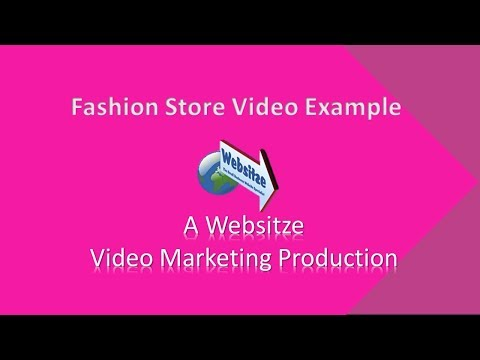 Fashion Store Template. Small Business Video Marketing From Websitze