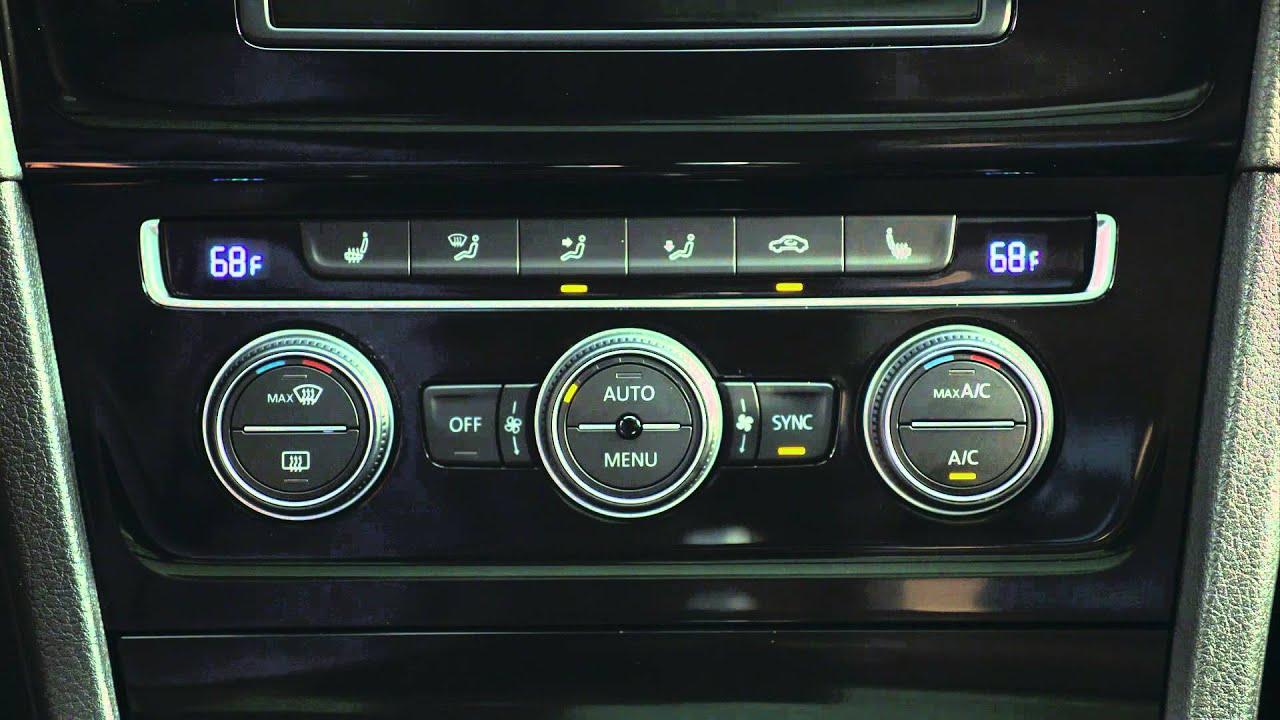 VW Golf Sportwagen >> 2015 Volkswagen Golf SportWagen - Climatronic - YouTube