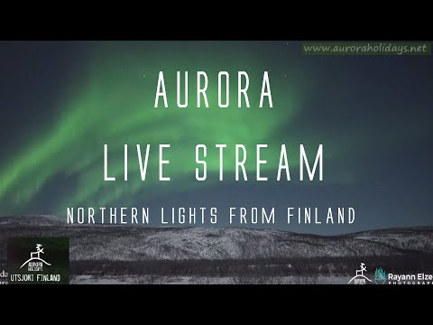 AURORA LiveStream From Finland! Northern Lights Live (10th April 2021)