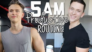 2019 5AM Epic Morning Routine / Productive and Healthy !