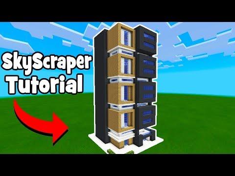 Minecraft Tutorial: How To Make A Skyscraper #1 (City Tutorial)