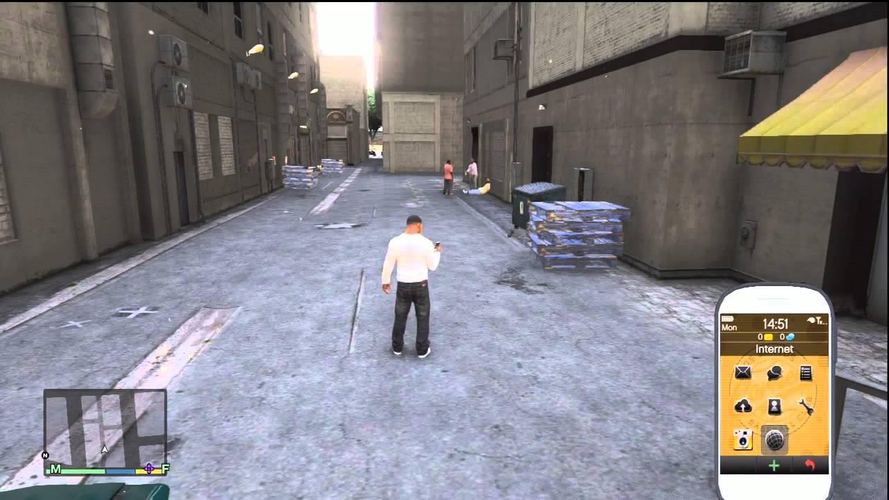 GTA V GTA 5 Cellphone Amp Internet Gameplay Xbox 360