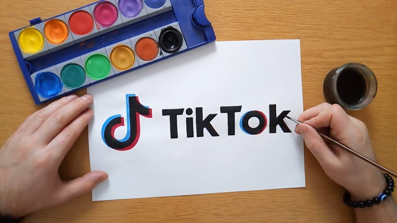 HOW TO DRAW TIK TOK LOGO - YouTube   Tiktok Dessin