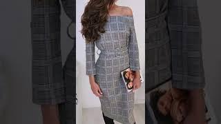 Женское платье с открытыми плечами 2636 в интернет-магазине одежды Emberens.com