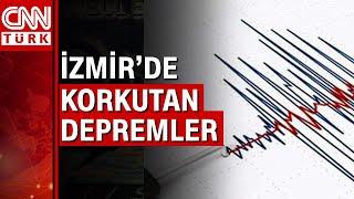 İzmir açıklarında peş peşe depremler!