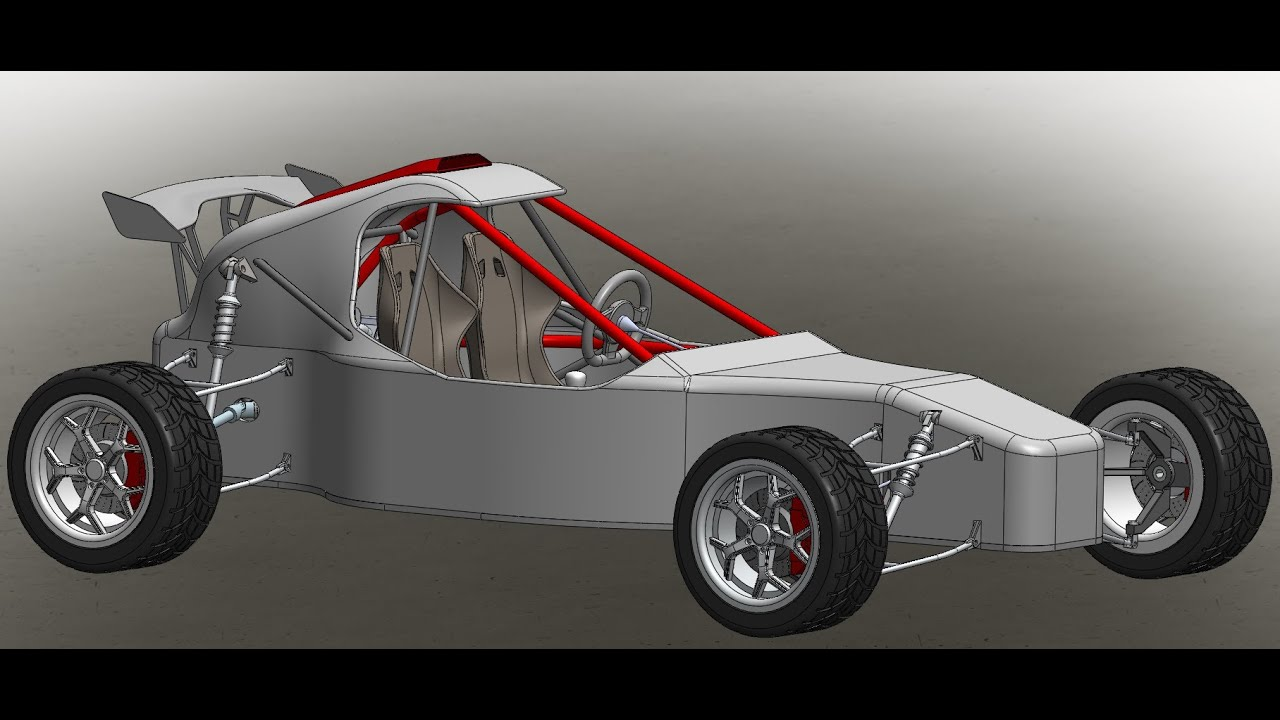 Solidworks Offroad Racing Buggy - YouTube