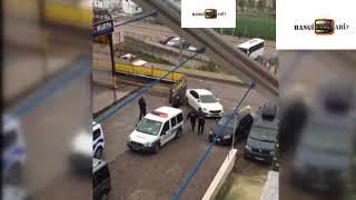 Polisin kurşun yağdırdığı araba kaçmayı başardı