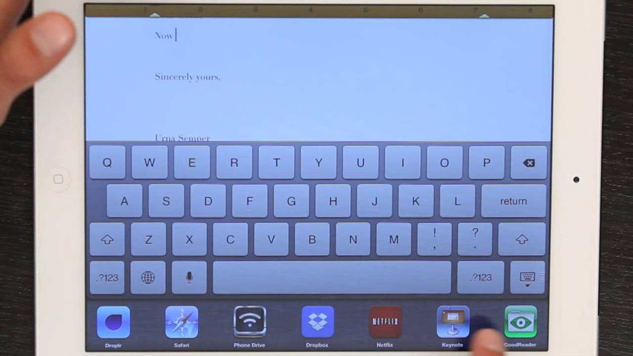 how to type a letter on my ipad