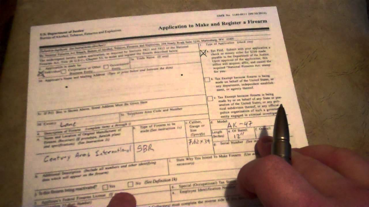 How To Apply For NFA Firearm: Form 1 Paperwork - YouTube