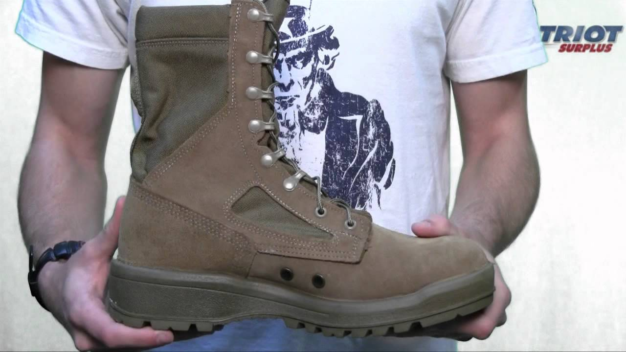 Belleville 590 Men S Hot Weather Usmc Boot Youtube