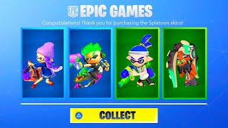 HOW TO GET NEW FORTNITE SPLATOON REWARDS! NEW FORTNITE SPLATOON SQUIDKID SKIN! FORTNITE X SPLATOON