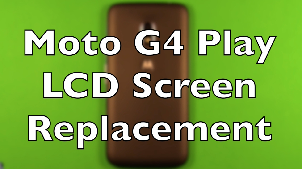 Moto G4 Play LCD Screen Replacement Repair How To Change