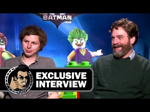 Michael Cera & Zach Galifianakis Exclusive THE LEGO BATMAN MOVIE (JoBlo.com) 2017