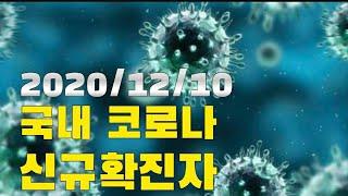 코로나에 경각심을....제발 2020/12/10 국내 지역별 코로나 신규확진자/사망자/검사수/격리해제 Coronavirus new  confirmed person