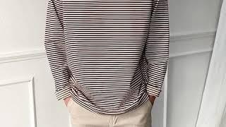 [그남자] 데일리 스트라이프 티셔츠