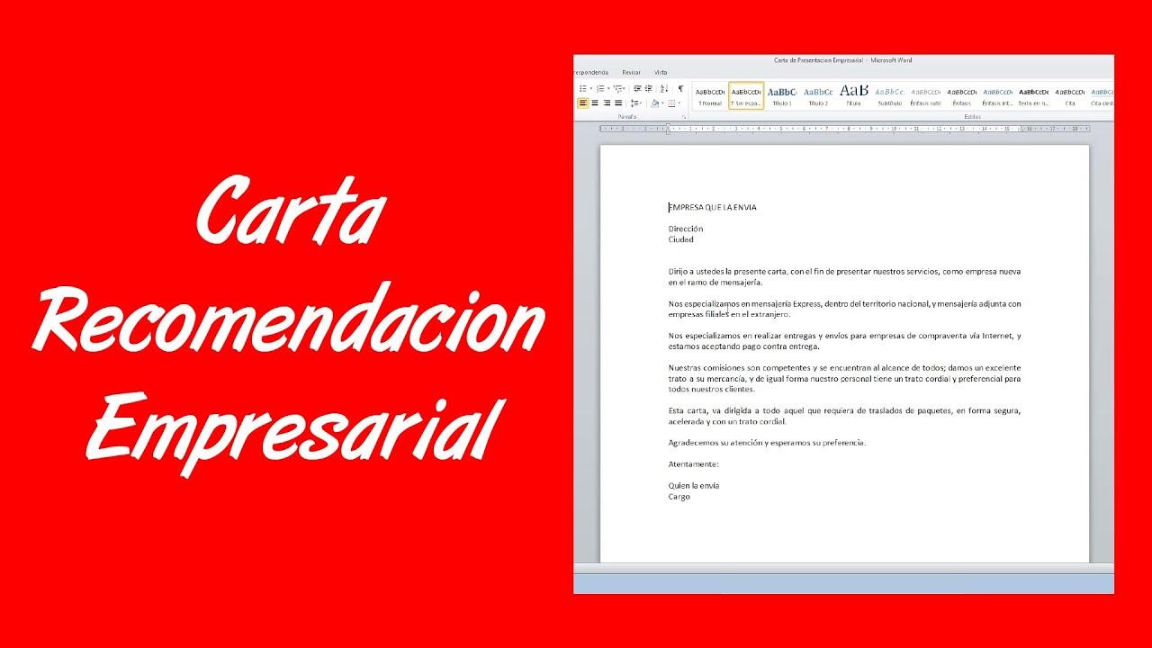 cartas de recomendacion personal para un trabajo