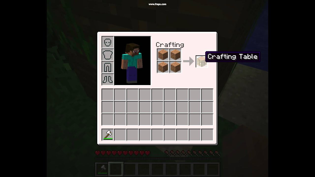 how to build crafting table minecraft