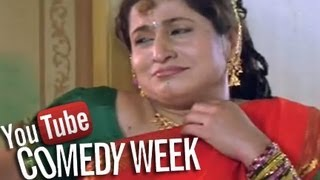 Bharat Jadhav with Kishori Ambiye - Saali ne Kela Ghotala Comedy Scene