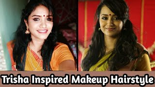 Download Lagu Yennai Arindhaal TRISHA-Hemanika Inspired Makeup Look & Hair style Tutorial  | DAY 44 mp3