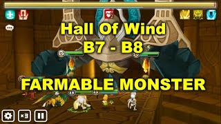 summoners war hall of wind b7 b8 farmable monster auto