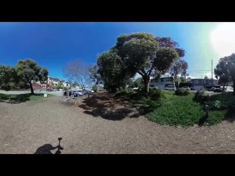 Vuze 3D 360 camera stabilized with Guru 360 gimbal