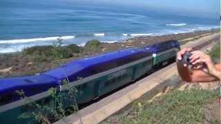 "Commuter Train ""The Coaster"" near Del Mar Seashore"