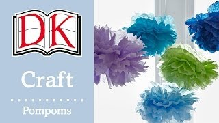 Papercraft: Tissue Paper Flower Pompoms