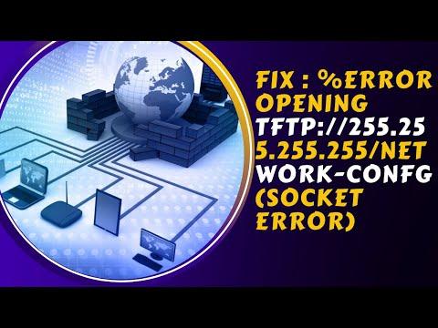How to FIX : %Error opening tftp://255.255.255.255/network-confg (Socket error) | Urdu 2019