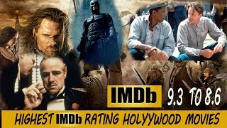 TOP 20 HIGHEST IMDb RATED HOLLYWOOD MOVIES ENGLISH MOVIES