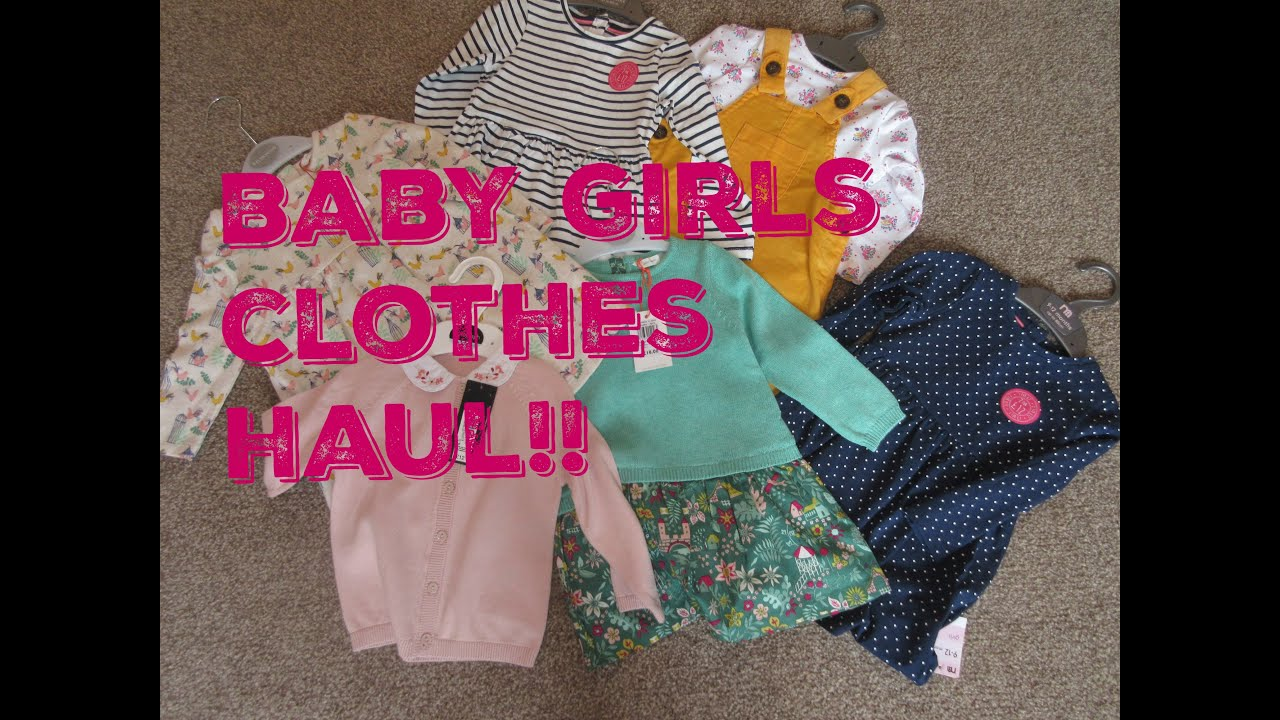 540f80740b4 BABY GIRLS CLOTHEs HAUL - 9-12 months - Autumn winter - YouTube