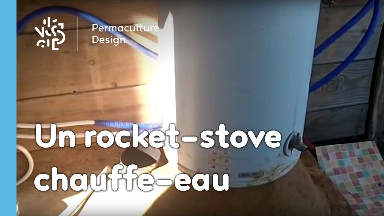 adapter la technique du rocket stove un chauffe eau youtube. Black Bedroom Furniture Sets. Home Design Ideas