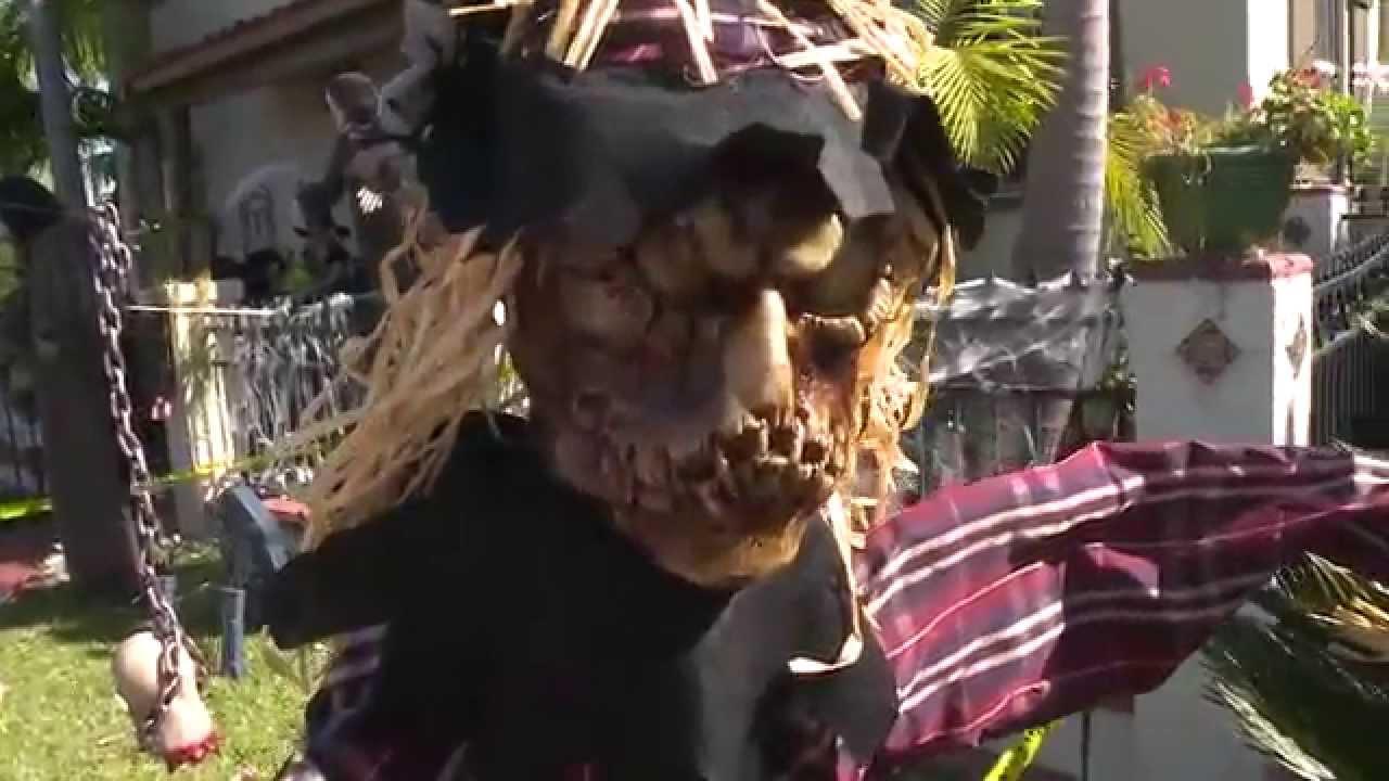 crazy halloween decorations in kensington in san diego
