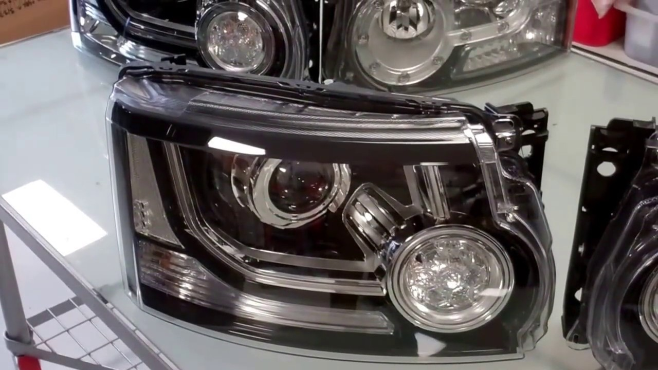 land rover discovery 4 facelift upgrade grille headlights [ 1280 x 720 Pixel ]