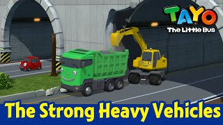 Tayo Strong Heavy Vehicles Song l Sing Along with Tayo l Trucks for kids l Tayo the Little Bus