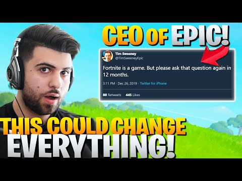 Epic's CEO Revealed Something BIG About The FUTURE Of Fortnite!
