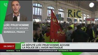 Le député LFI Loïc Prud'homme accuse la police de l'avoir matraqué
