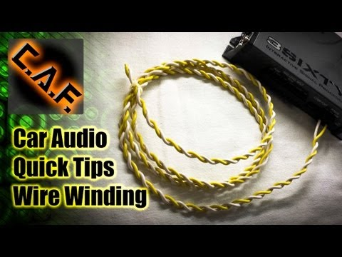 How to Wind Wire in a Car Audio Install - Car Audio Quick Tips - CarAudioFabrication