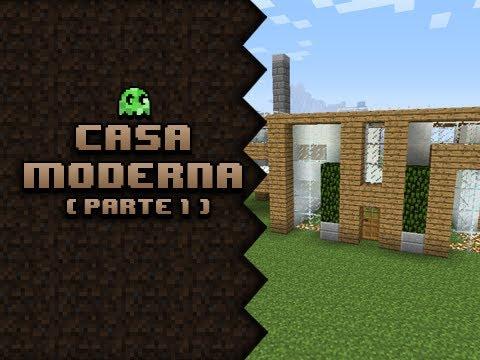 Minecraft construindo uma casa moderna parte 1 doovi for Jazzghost casas modernas 9