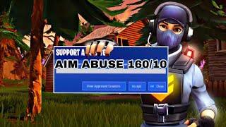FORTNITE STRIKE PACK FPS DOMINATOR SETTINGS (AIM ABUSE) SE VE COMO AIM BOT