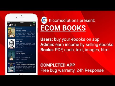 EBooks: Sell Your Ebooks App Template, Source Code - Best App Of Hicomsolutions