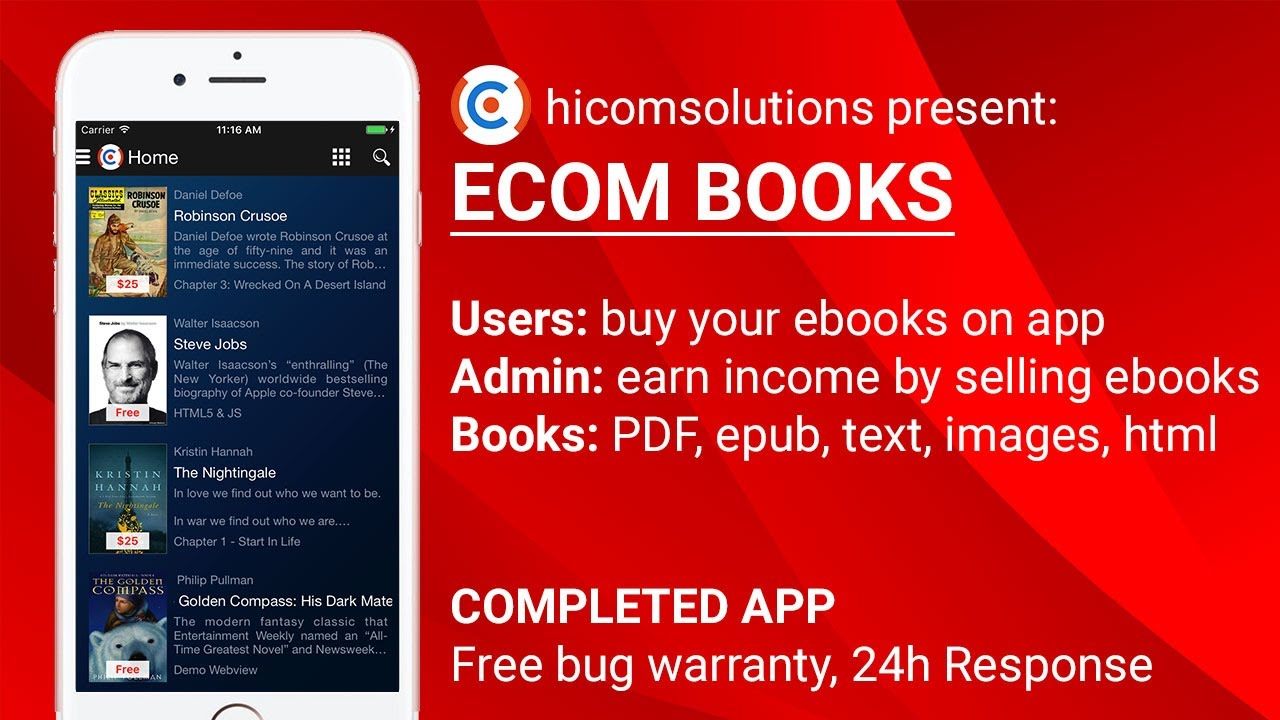 Ebooks: Sell Your Ebooks App Template, Source Code  Best App Of  Hicomsolutions