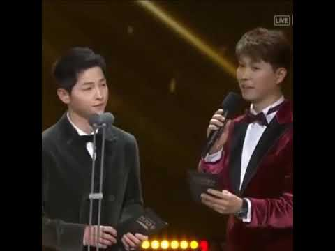 Song Joong Ki talk about his life with Song Hye Kyo after wedding at KBS Drama Awards