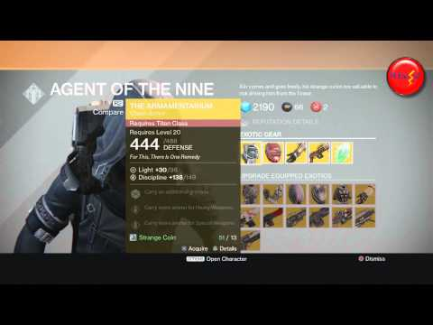 Destiny - Xur location / NO LAND BEYOND Exotic Sniper Rifle can be equipped in the primary weapon